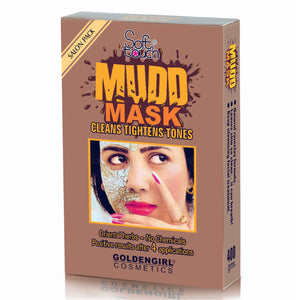 Golden Girl Mudd Mask: Tightens the pores, stops aging lines and brings back softness, natural brightness and bloom to the skin.  Natural rare-clay formula. Leaves skin so clean... it can breath! Deep cleansing facial treatment.