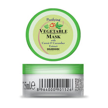 Load image into Gallery viewer, Vegetable Mask: For thorough cleansing impurities below the skin surface must be purged. This organic mask cleanses into the pores-lifting out residues and absorbing excess oil. Hidden dirt is drawn out, leaving the skin revitalized. Formulated with Carrot and Cucumber to stimulate the body's natural renewal process.