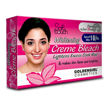 Load image into Gallery viewer, Golden Girl Whitening Creme Bleach is clinically proven to regulate negative processes in skin for a smooth, fair skin and even complexion. It effectively lightens age spots, freckles, moles and sunspots.It contains innovative Acti-White Complex that effectively lightens the skin. It decreases Tyrosinase activity to diminish the appearance of dark spots as well as decreases the maturation of melanin to lighten and brighten skin.