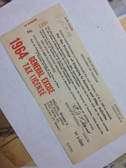 Original Sailor Jerry 1964 Business License - SUPER RARE!