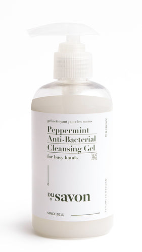 Peppermint Antibacterial Hand Cleansing Gel (100% Natural)