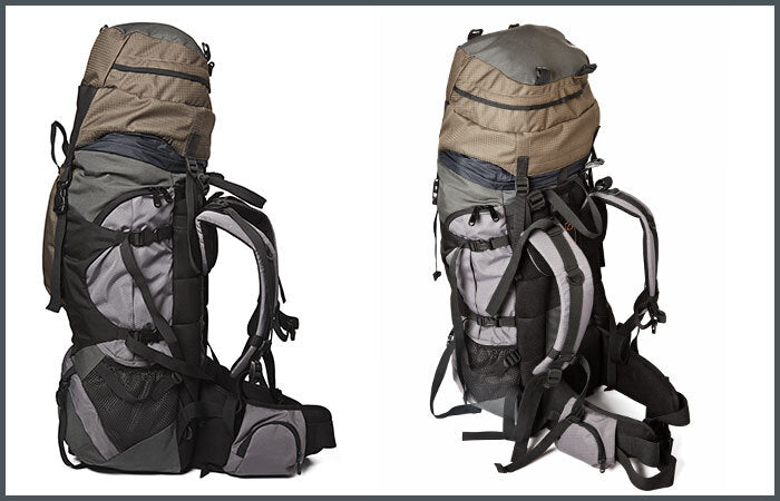 two identical backpacks