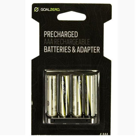 AAA Rechargeable Batteries with Adapter (4 pack)