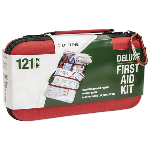 Lifeline Deluxe First Aid Kit (121 pieces)-camping survival