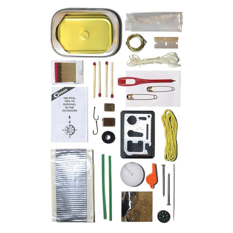 Survival Kit in a Can (33 pieces) camping survival