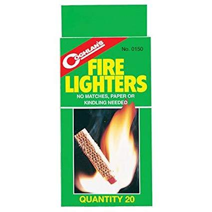 Fire Lighters (20-pack)- camping survival