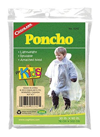 Coghlans Kids Emergency Poncho camping survival