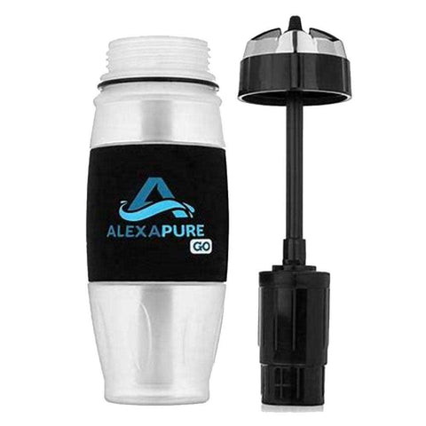 Alexapure Go Water Filtration Bottle camping survival