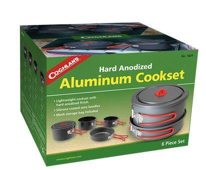 Coghlans Hard Anodized Aluminum Cookset (6 pieces)