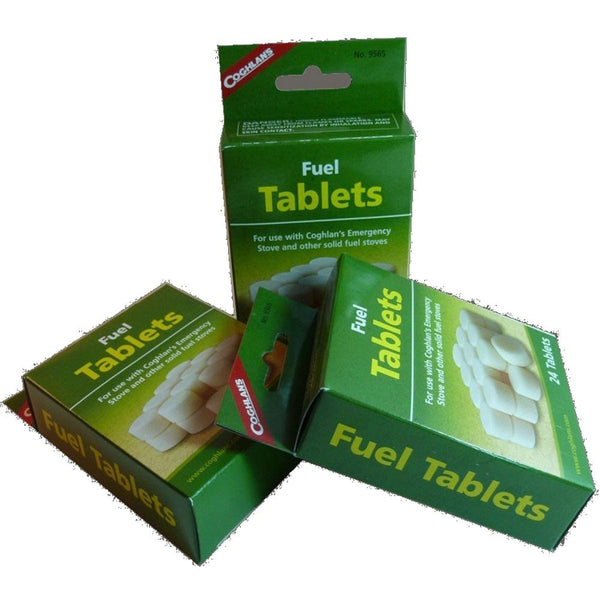 Solid Fuel Stove and 24 Hexamine Tablets Coghlans Emergency Pocket Stove
