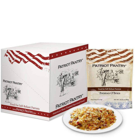 Discontinued - Potatoes O'Brien Case Pack (48 servings, 6 pk.) - My Patriot Supply