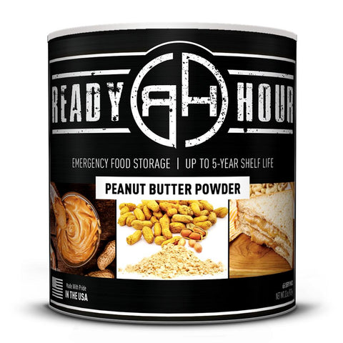 Ready Hour Peanut Butter Powder (65 servings) camping survival