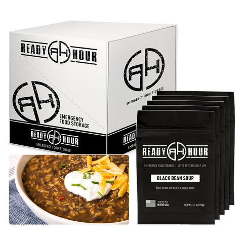 Ready Hour Black Bean Soup Case Pack (20 servings, 5 pk.) camping survival
