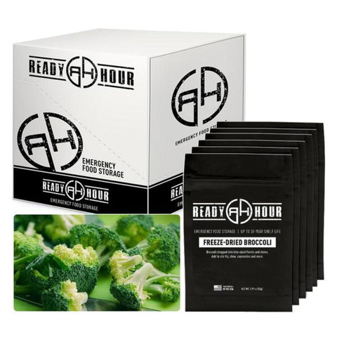 Ready Hour Freeze-Dried Broccoli Case Pack (48 servings, 6 pk.) Camping Survival