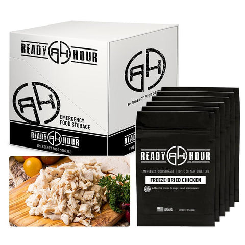 Ready Hour Freeze-Dried Chicken Case Pack (24 servings, 6 pk.)- Camping Survival