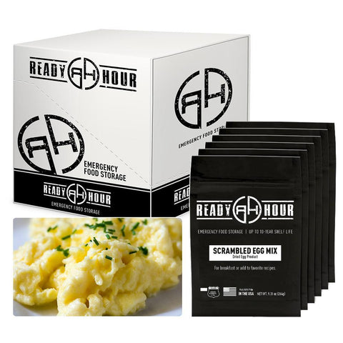 Ready Hour Scrambled Eggs Case Pack (144 servings, 6 pk.) camping survival