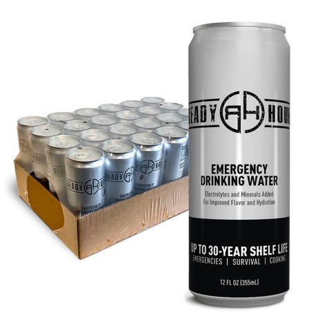 Ready Hour Emergency Water (12 oz. 24-Pack) - Camping Survival