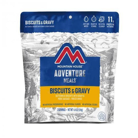Mountain House Biscuits and Gravy Pouch - Camping Survival