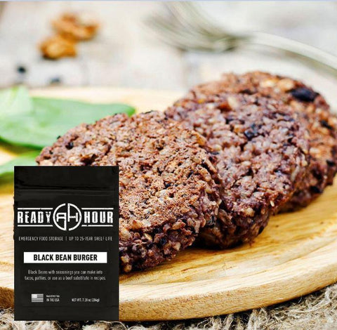 Black Bean Burger Mix Single Pouch (6 servings)