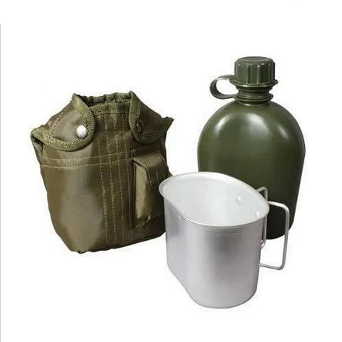 Rothco 3-Piece Canteen Kit with Cover and Aluminum Cup - Camping Survival