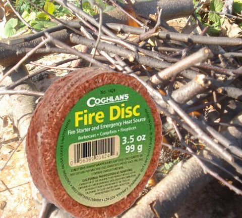 Coghlans Fire Disc - Fire Starter & Emergency Heat Source-Camping Survival