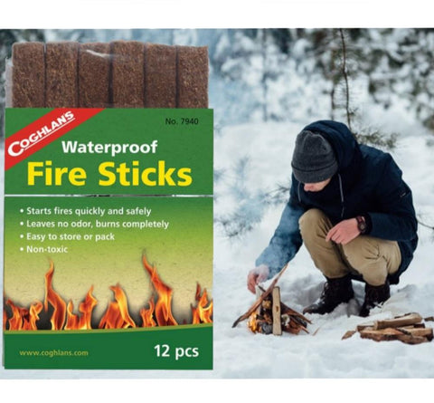 12 Waterproof Fire Sticks