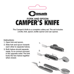 Camper's Knife with Fork and Spoon