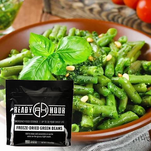 Freeze-Dried Green Beans Single Pouch (8 servings) - Camping Survival
