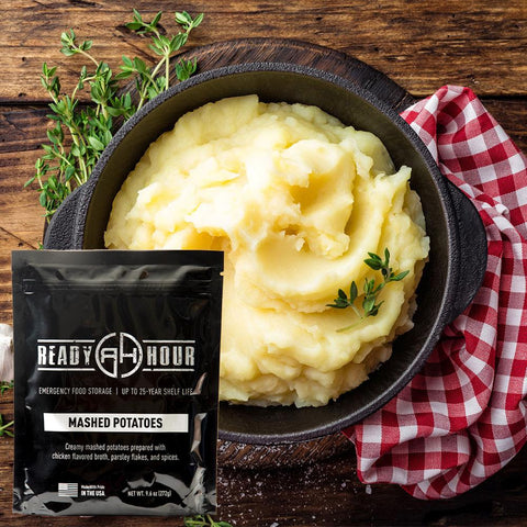 Ready Hour Mashed Potatoes Single Package (8 servings) - Camping Survival