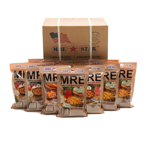 12 Complete Meal MRE Food Supply - Camping Survival