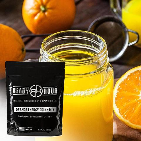 Orange Energy Drink Mix Single Pouch (8 servings)
