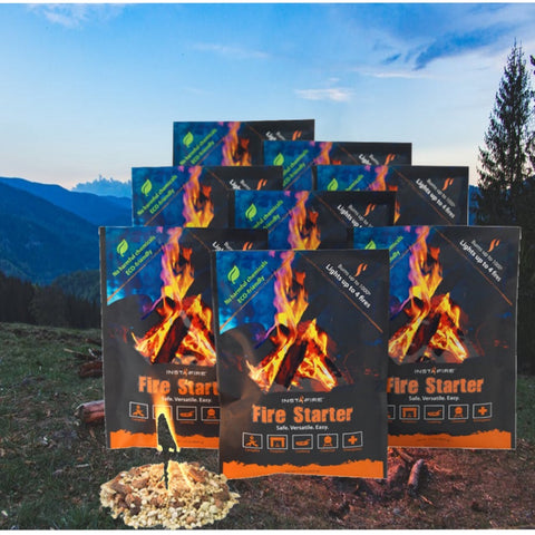 Instafire Fire Starter Pouches (12 packs) camping survival