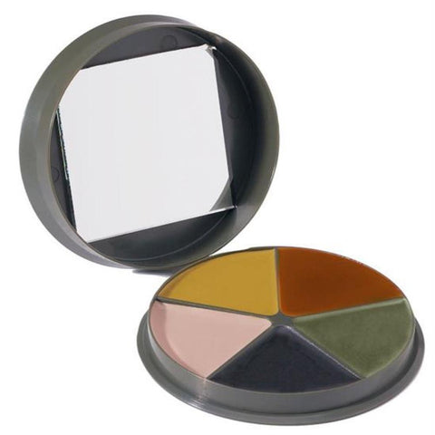 GI Type 5 Color Camp Face Paint - Round Compact Camping Survival