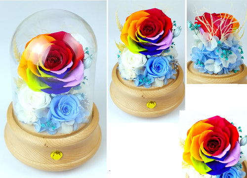 Eternal Preserved Flower With Bluetooth Music Box