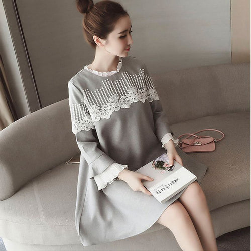 high Quality Autumn Fashion Dress For Maternity Women