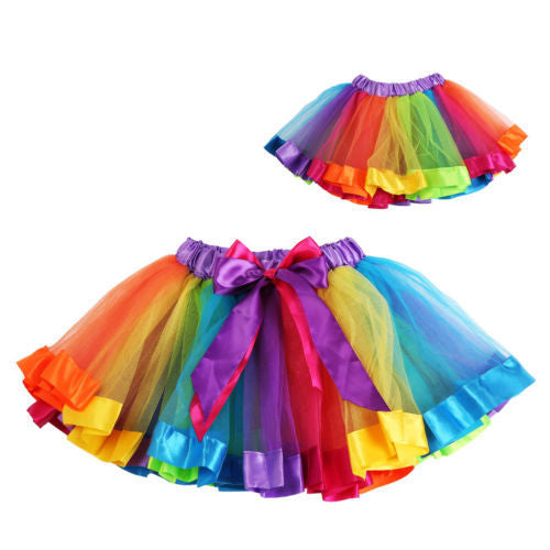 Rainbow Pettiskirt Tutu Skirt