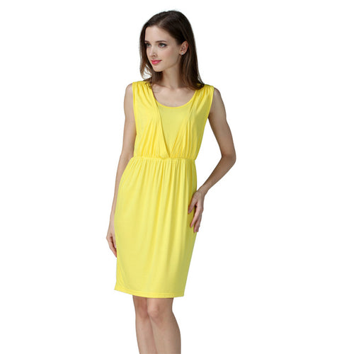 Good Quality V-Neck Summer Maternity And Nursing Dress