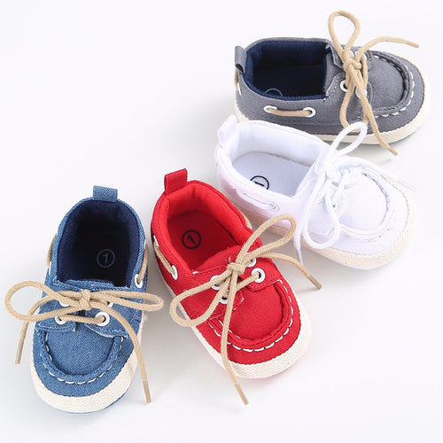 Baby Boy Soft Soled Crib Sneaker