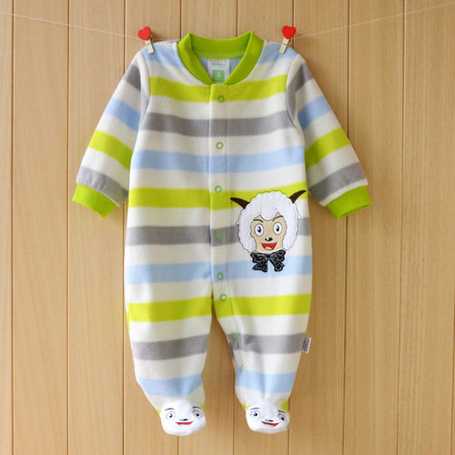Autumn & Spring Cotton Baby Boy Sheep Jumpsuits