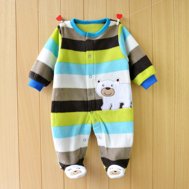 Autumn & Spring Cotton Baby Boy Bear Jumpsuits