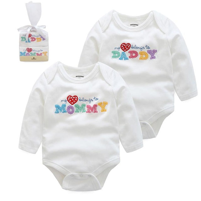 100% Cotton Baby Long Sleeve Romper