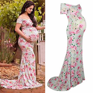 Nursing Maternity Photography Props Maxi Dress