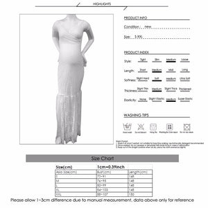 Puseky Maternity Photography Props Maternity Dresses Plus Size Lace Fancy Pregnancy Dresses Photography White Gown Dress