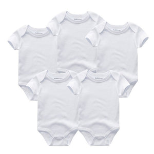5Pcs/Pack Short Sleeve Bodysuit