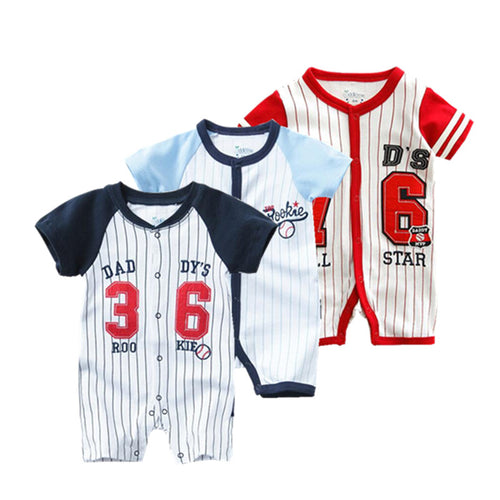 Summer Football Sport Baby Bodysuit