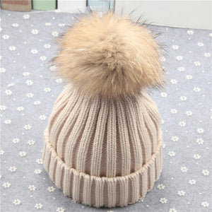 Winter Mother & Baby Beanie Knitted Warm Hat