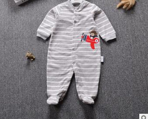 Baby Boy Romper Warm Fleece Jumpsuit