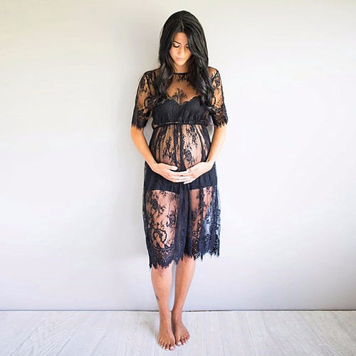 Maternity Photography Props Sexy Lace Dress