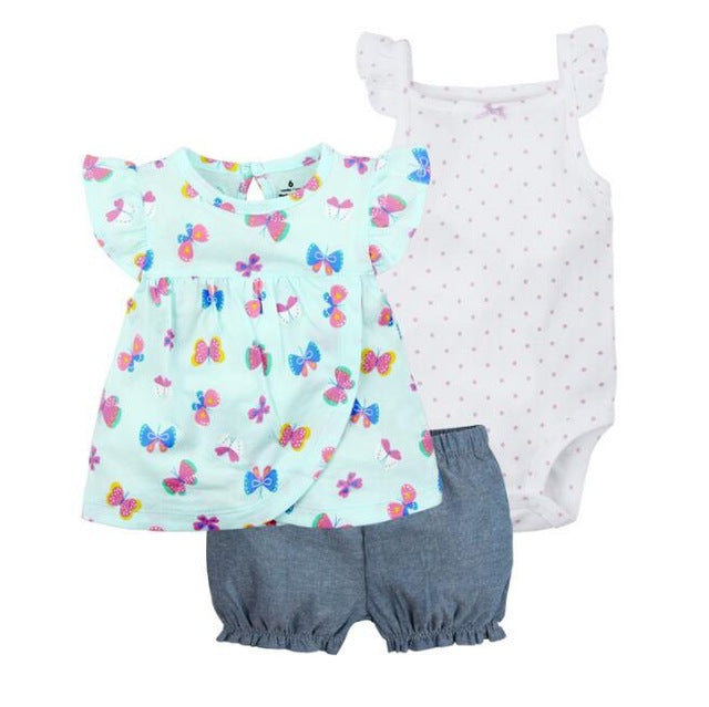 3 Pieces Little Short Set