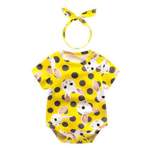 Summer Baby Girl Bodysuit & Headband